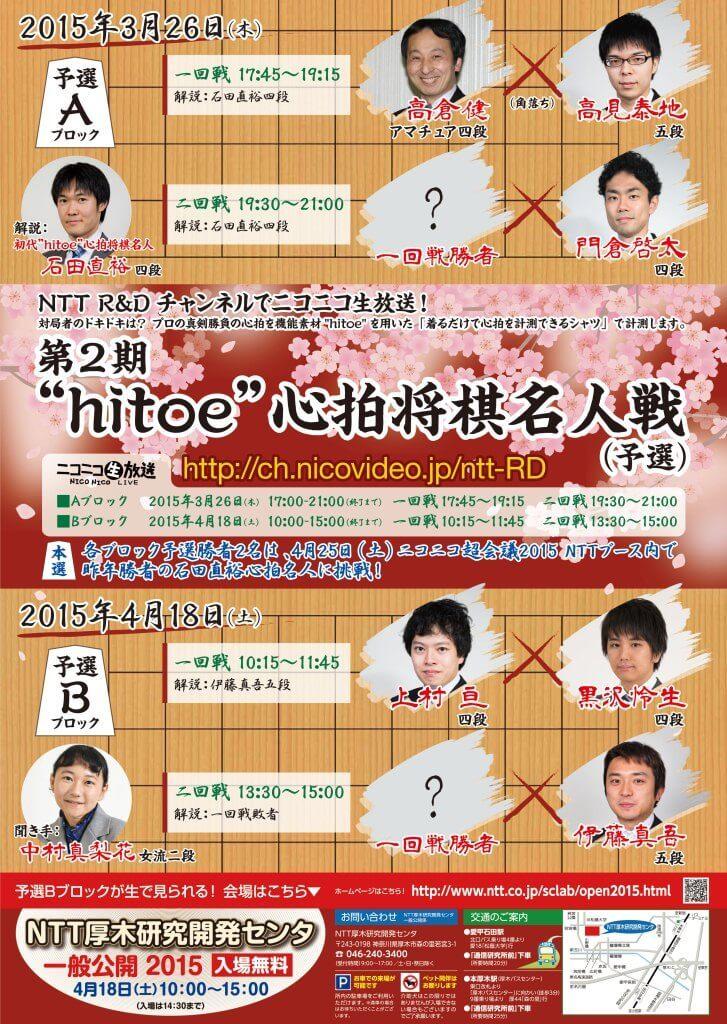 """第2期""""hitoe""""心拍将棋名人戦"""